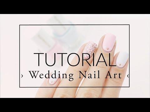 Nail Art For A Wedding As Guest Tutorial Kia Charlotta Youtube