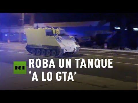 Super Martinez - Soldado Roba Un Tanque Militar a Toda Velocidad