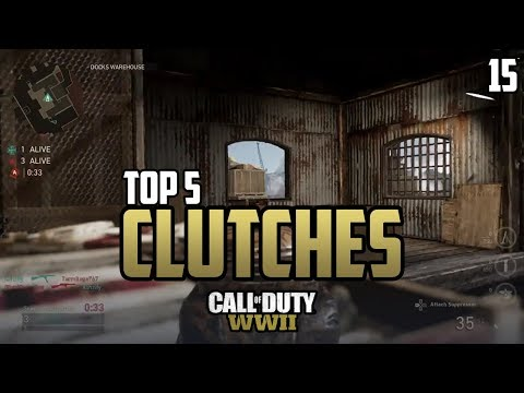 COD WWII: TOP 5 CLUTCHES OF THE WEEK #15 - Call of Duty World War 2 thumbnail