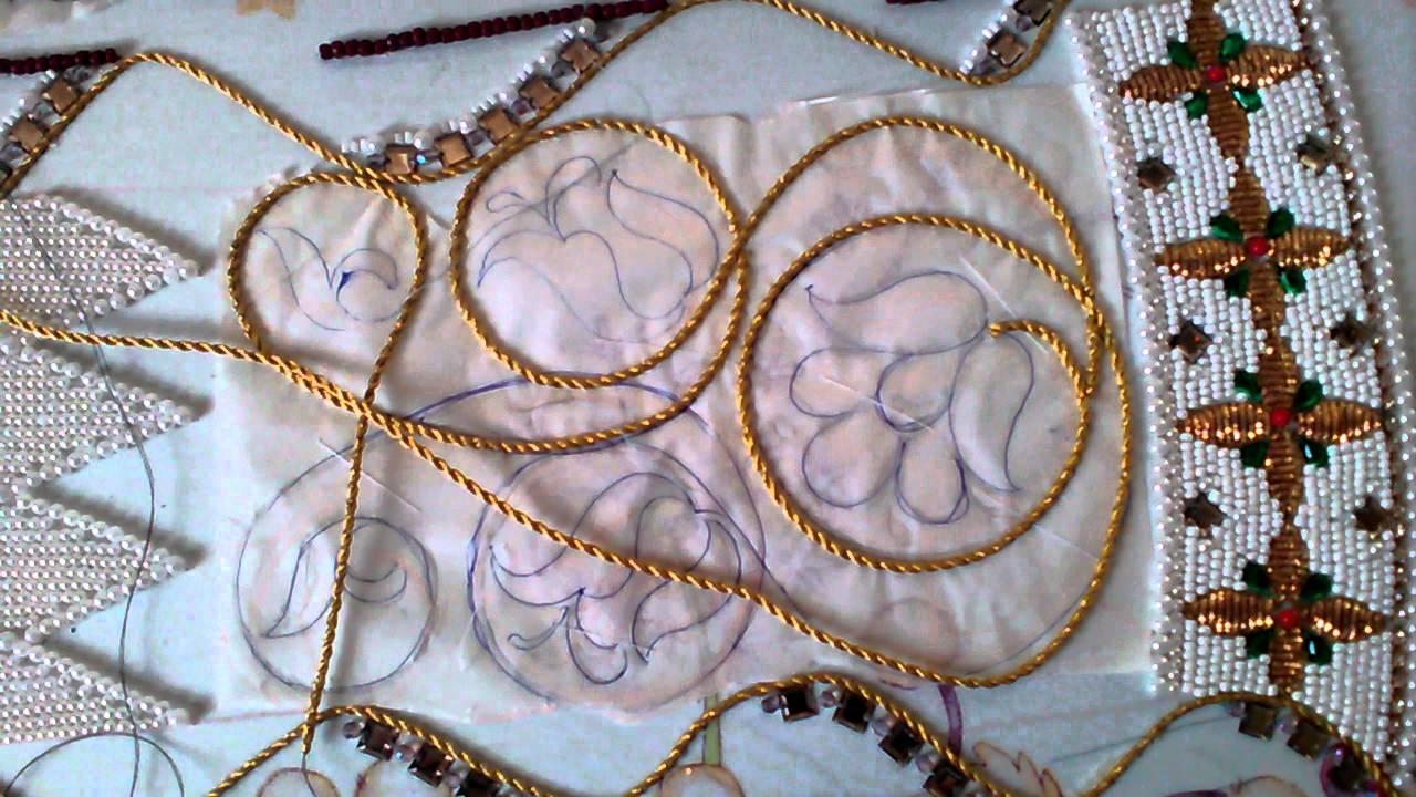 Вышивка шнуром бисером