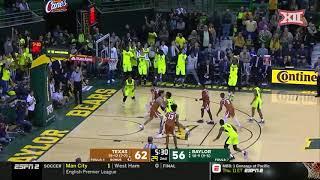 Texas vs baylor men's basketball highlights