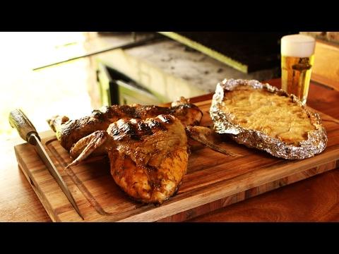 Pollo a la Parrilla con Milhojas de Papa - Receta de Locos X el Asado