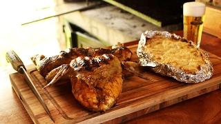 pollo a la parrilla con milhojas de papa receta de locos x el asado