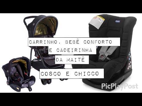 CARRINHO E BEBÊ CONFORTO- COSCO/ CADEIRINHA- CHICCO ELETTA