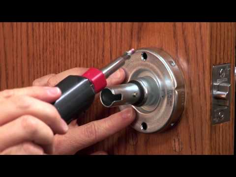 Electronic Locks   CO-Series How to Install Cylindrical Electronic Lock