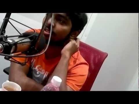 G.V Prakash & Haricharan At Suryan FM Studio Live During On-Air Audio Launch Of Film Tandavam