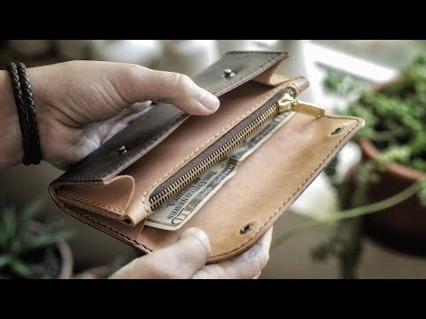 Making A Leather Clutch By Hand