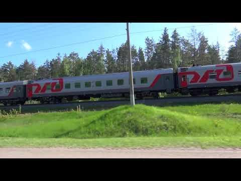Параллельное движение с поездом № 112 Круглое Поле - Москва
