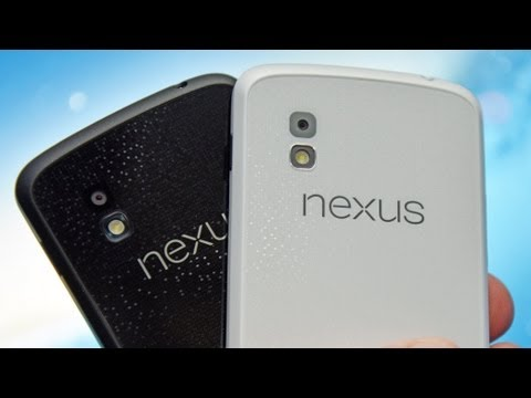 Google Nexus 4 (White vs Black): Unboxing & Review