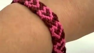 Download Video Cara membuatan gelang tangan motiv hati untuk hari valentine - DIY merajut gelang tangan hati MP3 3GP MP4