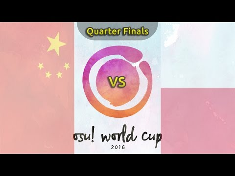 osu! World Cup 2016 | Quarterfinals | China vs Poland /w Twitch Chat
