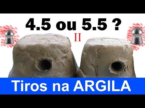 Qual calibre escolher? 4.5 ou 5.5? Parte 2: Penetração e Expansão na Argila