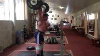 200kg Barbell Complex: Push Press + Squat + Jerk - Weightlifter Igor Lukanin @+105 Kg