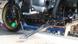 Triumph Bonneville front aluminium mudguard and shorter side stand