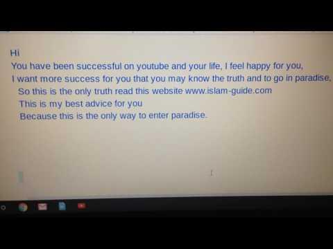 A Message To TaylorSwiftVEVO