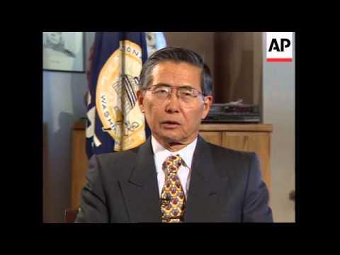 USA: WASHINGTON: PRESIDENT ALBERTO FUJIMORI INTERVIEW