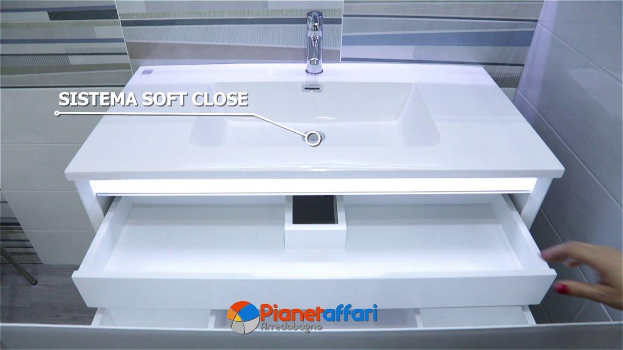 Specchio Bagno Led 100.Mobile Da Bagno Sospeso Cm 100 Completo Di Specchio Led Touch
