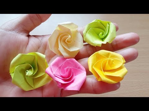 origami-easy---origami-rose-from-post-it-note