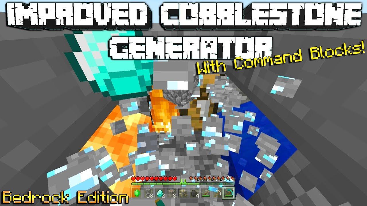 Minecraft: Improved Cobblestone Generator Command(Bedrock Edition