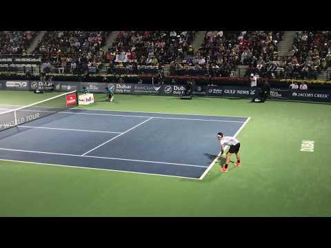 Roger Federer footwork on return game against Donskoy | Dubai 2017