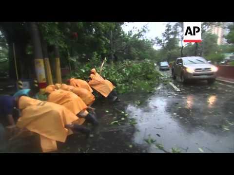 Typhoon slams into Philippines; thousands evacuate