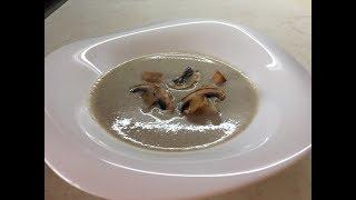 Простой рецепт грибной суп пюре