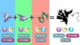 Pokemon Fusion Requests #88: Mega Latios + Mega Latias + Mega Rayquaza.