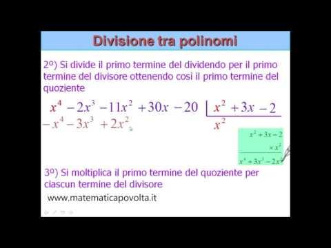 La divisione tra polinomi