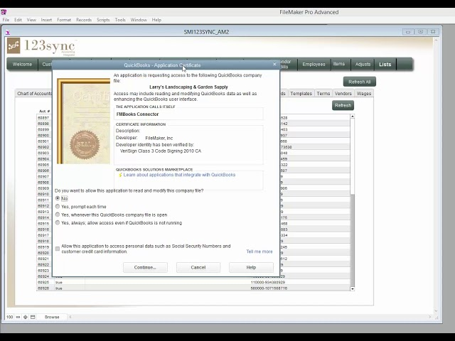 123sync AuthenticatingToQuickBooks 053116