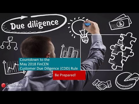 Countdown to MAY 2018 FinCEN CDD Rule - Be Prepared!