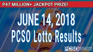 PCSO Lotto Results Today June 14, 2018 (6/49, 6/42, 6D, Swertres, STL & EZ2)