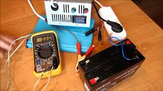 Зарядка гелевых AGM аккумуляторов лабораторным блоком, Вымпел 57. Для детских электромобилей.