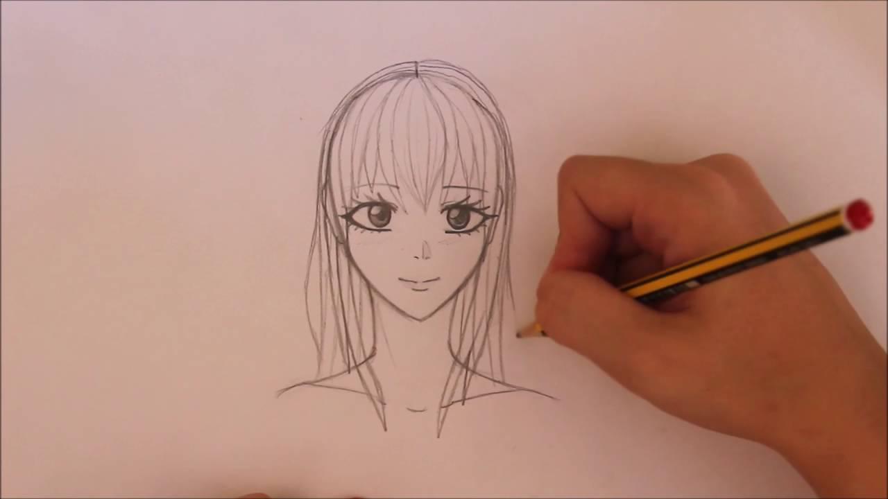 Comment Dessiner Des Cheveux De Manga Fille Cours 1 Youtube