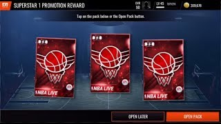 Reached Superstar I in showdown league and reward opening  | NBA Live Mobile |