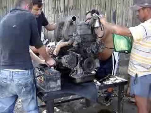 Starting a Mercedes Sprinter Diesel engine  YouTube