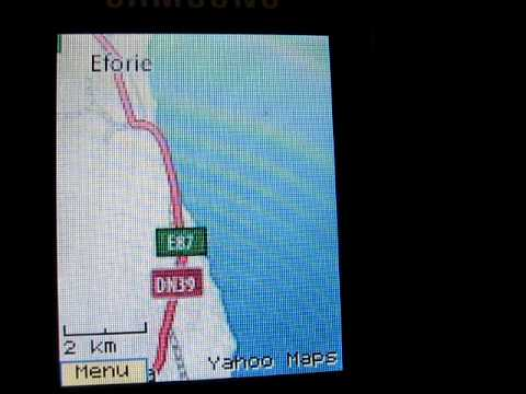 Java Application Mobile GMaps on Samsung E2510 Mobile Yahoo Maps Romania Map