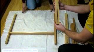 Станок напольный для вышивки(Высота: 100 см. Ширина: 78 см. Глубина: 65 см. Рамка: 59 х 40 см. Станок имеет несколько уровней регулировки по высоте..., 2014-12-28T21:30:43.000Z)