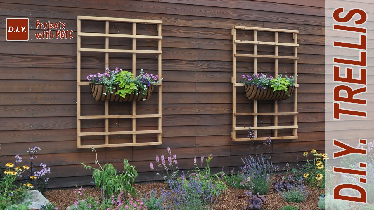 Garden wall trellis designs garden ftempo for Wall trellis ideas