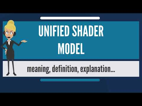 What is UNIFIED SHADER MODEL? What does UNIFIED SHADER MODEL mean? UNIFIED SHADER MODEL meaning