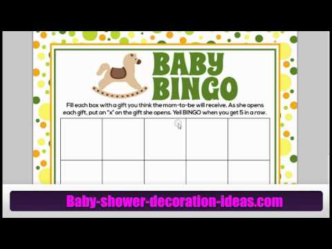 Printable Baby Shower Bingo Games - Yours For Free!