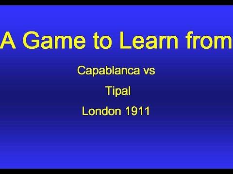 Jose Raul Capablanca vs Otto Tipal - London 1911