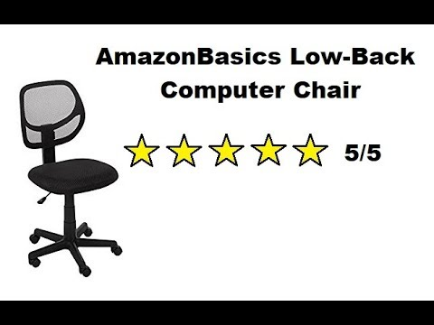 amazonbasics low back computer chair review youtube