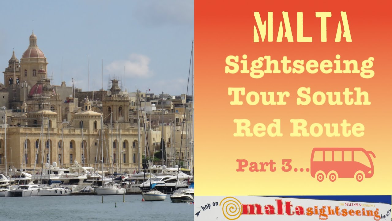 Malta Sight Seeing Tour (Southern Malta  Red Route)  Part 3 Malta Travel Video