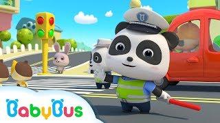 ❤  شرطي مرور الأطفال   اغاني الوظائف ورسوم متحركة بالانجليزية   بيبي باص   BabyBus