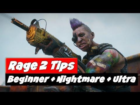 RAGE 2 Tips and Tricks | Beginner | Nightmare | Arks + Weapons