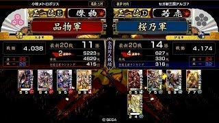 戦国大戦 傾奇者対決 [2015/02/23] 品物 VS 桜乃