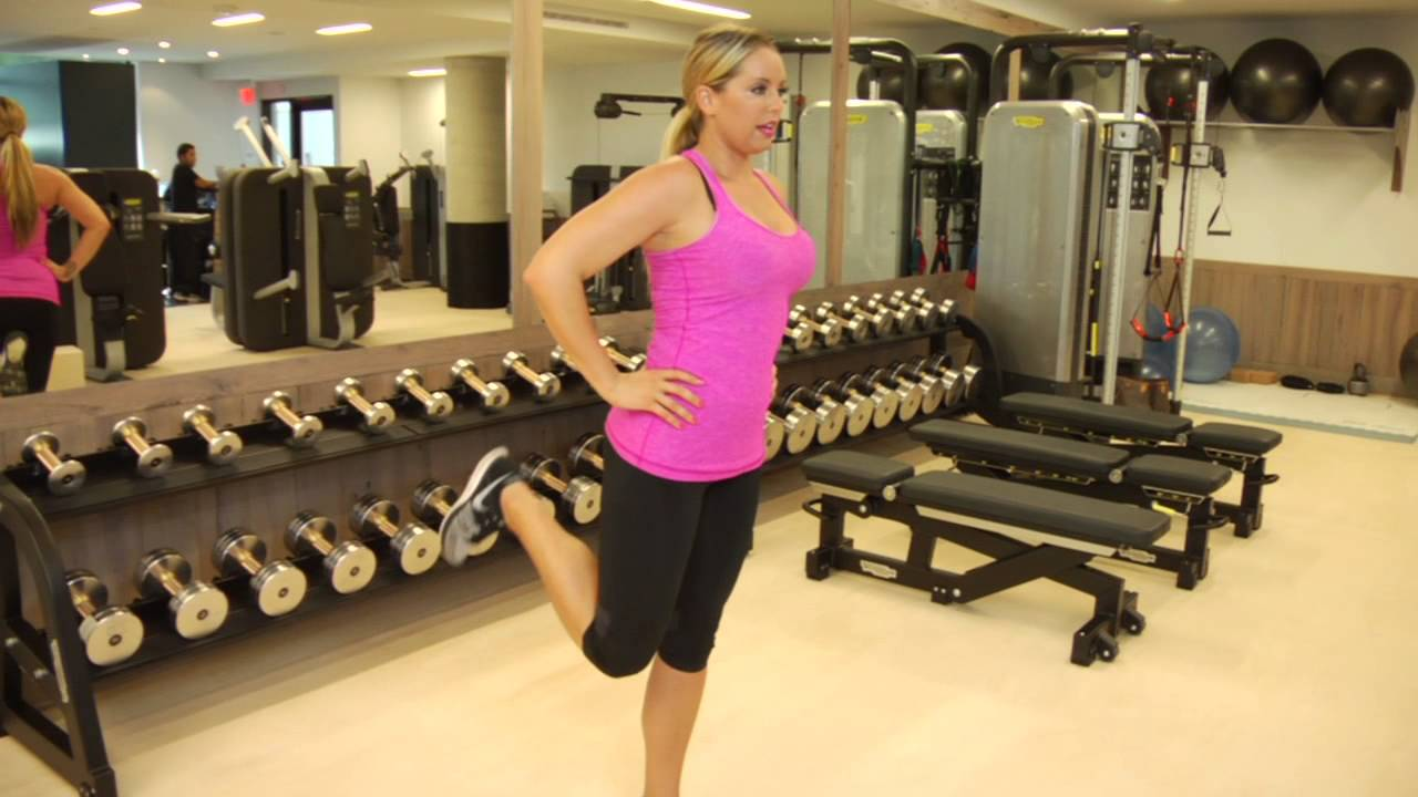 Standing Leg Curl Without a Machine : Easy & Effective