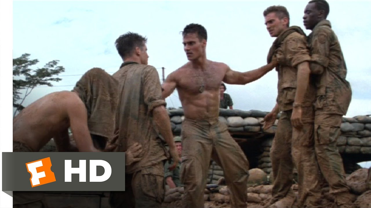 hamburger hill 110 movie clip we dont start fights