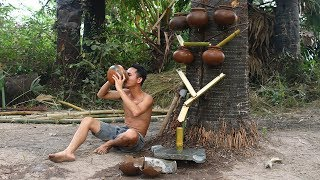 Primitive technology with survival skills build a water filter