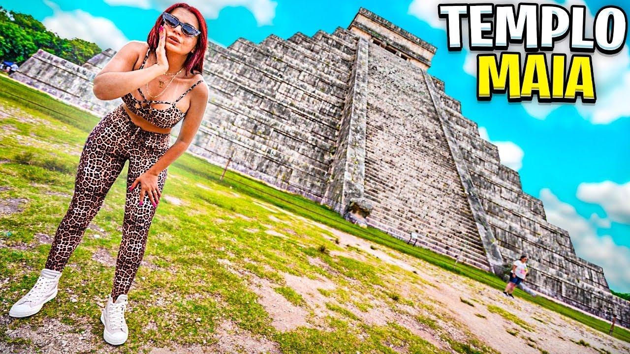 REALIZEI O SONHO DELA * fomos conhecer as pirâmides maia de Kukulcán *